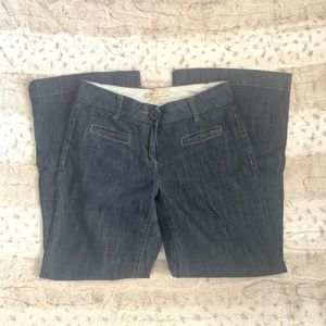CABI DARK JEANS WITH LARGE BUTTON